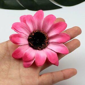 Lot 50/80P Artificial Silk Flowers Heads Fake Gerbera Daisy Sunflower DIY Craft