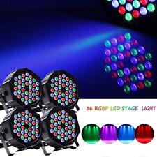 4X 72W 36 LED RGB Bühnenlicht DMX PAR Can Licht Club Disco Party DJ Show U`King