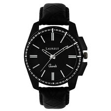 Laurels Large Size Trans Series Black Color Men Watch (LO-TRS-101)