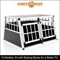 Aluminium Car Dog Cage Cozy Pet Travel Puppy Crate Pet Carrier Transport ACDC02