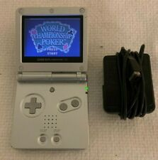 Nintendo GAMEBOY ADVANCE SP SILVER - AGT-S-PBA Tested Good Condition