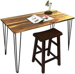 "28"" Metal Hairpin Coffee Table Legs 3-Rod Set of 4 Solid Iron Bar DIY Furniture"