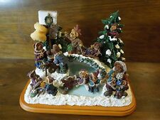 QVC Boyds Bears Skating Party Light Up Christmas Display Figurines
