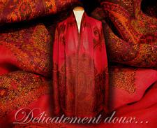 Écharpes et châles à motif étoles rouges Cachemire pour femme   eBay e201e03067f