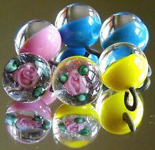 6 Czech Glass Paperweights Buttons #A064 - RARE!!!!! LAMPWORKED Buttons