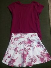 The Children's Place Girls Shirt Skort Outfit Set Size 5/6