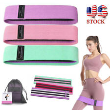 3PCS Fabric Resistance Bands Loop Fitness Exercise Bands Set Home Gym Workout