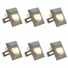 vidaXL 6x LED-Buitenwandlamp 5 W Vierkant Zilverkleurig Wandlamp Lamp Tuinlamp