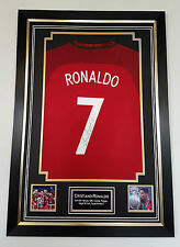 ** NEW Cristiano Ronaldo of Portugal Signed Shirt Autograph Display **