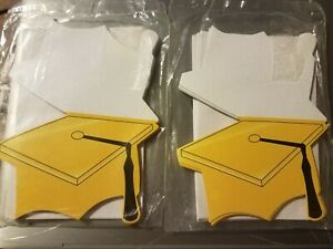 Graduation themed invitations and matching envelopes, 2 - 12 Packs