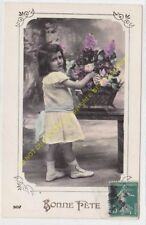 CPA Old Postcard vintage Enfant Child 507 BONNE FETE