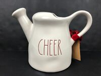 Rae Dunn CHEER Ceramic Watering Can Christmas Holiday Edition NEW Gift Tag LL