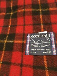 Edinburgh Modern Throw Wool Blanket Wallace Tartan Check Warm Highland Thermal