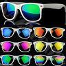 White Frame Square Mirror Lens Mens Womens Sunglasses Full UV400 Protection