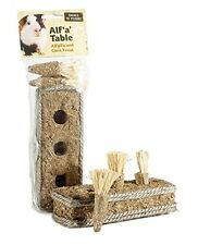 SMALL N FURRY ALF A TABLE ALFALFA & CORN RABBIT GUINEA PIG HUTCH CAGE TREAT TOY