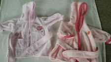 Baby Girl Carter's/Just Born bathrobes hooded to 9 months Lady bug & Fish emb.