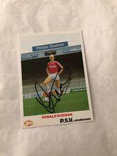 Spelerskaart Topspieler Handsigniert PSV Ronald Koeman FC Barcelona