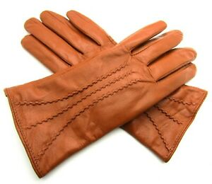 New Ladies Womens Premium Quality Genuine Super Soft Leather Gloves Fully Lined