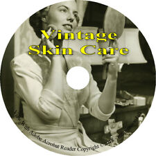Skin Care 12 Vintage Books CD Beauty Product Cosmetic Personal Care Anti-Aging