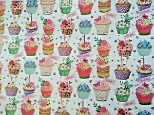 CUPCAKES WRAPPING PAPER - 2,  4, or 6 SHEETS PER PACK