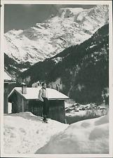 France, Les Contamines, Hameau le Baptieu  Vintage silver print Tirage argen