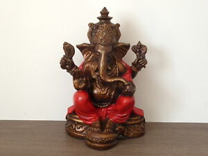 Ganesh Ganesha Cast Resin Statue Hand Finished & Decorated 25cm.....