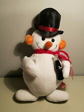 "Coca-Cola Plush Snowman Stuffed 15"" With Tags Vintage Rare"
