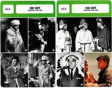 FICHE CINEMA x2 : BOB HOPE DE 1938 A 1985 -  USA (Biographie/Filmographie)