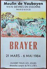Poster Exhibition Yves Brayer Moulin De Vauboyen 12 5/8x18 1/2in 1984