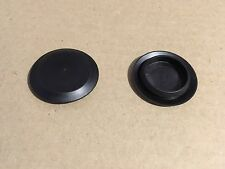 "10 Pack 1"" 1 Inch Flush Mount Black Plastic Body and Sheet Metal Holes Plug 413"