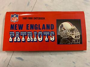 New England Patriots 1987-1988 Datebook Schedule Calendar Roster Notebook