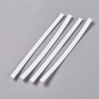 100pcs White PE Bendable Bridge Wire Galvanized Iron Wire Double Core 10cm