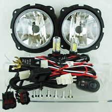 For 07-12 Ford Escape Fog Light w/Wiring Kit & COB LED Projector Bulbs - Clear