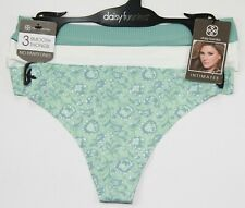 3e60c630a2376 Daisy Fuentes Lasercut Thongs White Green Panty Sexy Lingerie 3 pack M  Medium