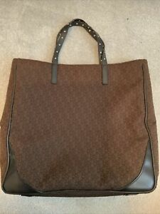 DKNY Tote Handbag Large Brown Black Used
