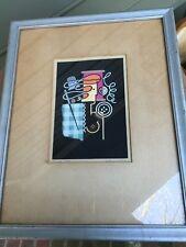 """Antique 1930 listed artist GEOFFREY ARCHBOLD Art Deco silkscreen """"Femina"""""""