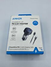 Anker 2-Port PowerDrive 33W Power Delivery Car Charger (with 6' PowerLine Select