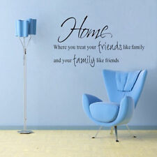 Removable Wall Sticker Decal Decor Home Where You Treat Your Friends Like Family