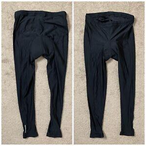 Canari Mens Sz XXL Black Padded Cycling Ankle Tights Pants