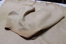 Italian Lambskin leather skins   NUDE NATURAL VTG GRAINY LIGHT TAN 9sqf