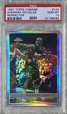 1997 TOPPS CHROME REFRACTOR SHERMAN DOUGLAS  PSA 10 CARDREGISTRY POP 2