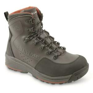 NEW! Simms Freestone Wading Boots, Rubber Soles Dark Olive Sizes 8-16