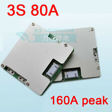 3S 11.1V Li-ion Lithium Cell 80A Battery Protection BMS PCM Board with Balance