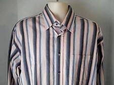 Bugatchi Uomo Mens XL Striped Shirt  100% Cotton