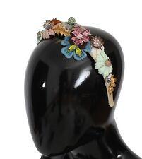 Nuevo Dolce & Gabbana Diadema Tiara Multicolor Floral Cristal Oro Diadema
