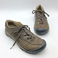 KEEN 1007732 Toyah Women Brown Leather Hiking Shoe Size 11 EUR 42 Pre Owned