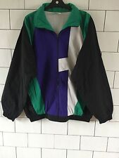 VINTAGE RETRO BRIGHT SPORTS FESTIVAL 80'S SHELL SUIT WINDBREAKER JACKET #217