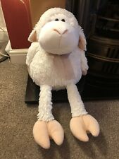 """VGC Large Fluffy Telitoy Sheep Soft Toy Oversized 15"""" Tall Seated Fluffy Cute"""