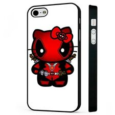 Hello Kitty Deadpool Superhero BLACK PHONE CASE COVER fits iPHONE