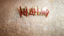 DEF LEPPARD Enamel Metal Vintage  Pin
